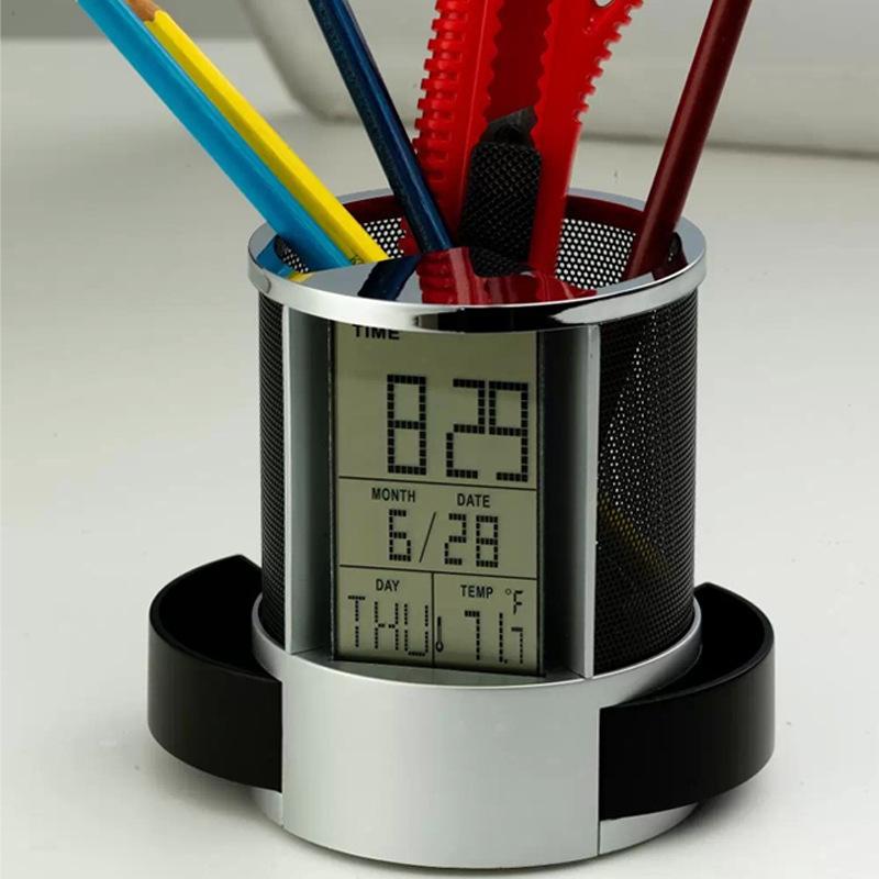Hộp đựng bút có đồng hồ
