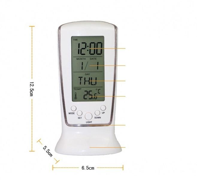 Đồng hồ để bàn nhiệt kế
