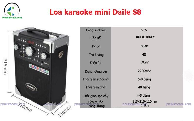 Loa karaoke mini Daile S8