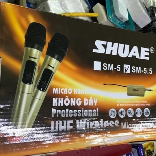 Bộ 2 micro ko dây đa năng Shuae SM-5.5